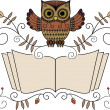 Reading owl — Stock Vector #25628373