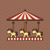 Carousel — Vector de stock