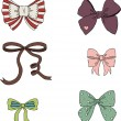 Vintage bows — Stock Vector