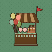 Candy shop card — Stock Vector