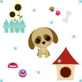 Vida de perro set. ilustración vectorial — Vector de stock