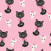 Cat and mouse seamless wallpaper — Stok Vektör