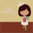 Mother's Day greeting card — Stock Vector