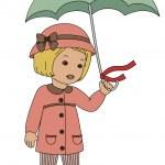 Retro little girl — Stock Vector #30529797