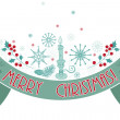 Merry Christmas holiday banner. — Vektorgrafik