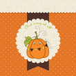 Stok Vektör: Halloween greeting card
