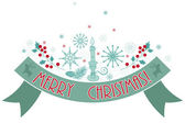 Merry Christmas holiday banner. — Stock Vector