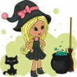 Cute little witch — Image vectorielle