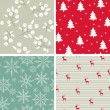 Christmas seamless wallpapers — Stock Vector