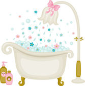 Vintage vector bath — Stock Vector