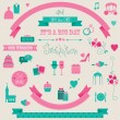 Big set of retro wedding collection. Vector icons and banners. — Stock Vector