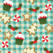 Christmas baking seamless wallpaper — Stock Vector
