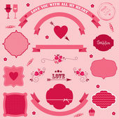 Vector banners and icons Valentine's day. — Stock Vector