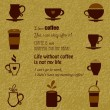 Vector coffee icons set — Stock Vector