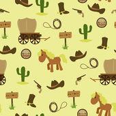 Cowboy naadloze achtergrond — Stockvector
