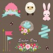 Easter design elements vector collection. — Stock Vector #40378269