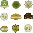 Gardening icons design. Stickers, labels, tags isolated over whi — 图库矢量图片 #44291267