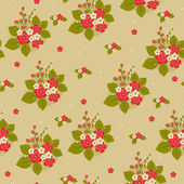 Seamless floral bright pattern — Stock Vector