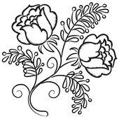 Teste padrão floral desenhada mão — Vetorial Stock