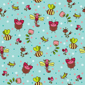 Bugs seamless wallpaper. — Stock vektor