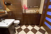 Modern brown bathroom — Stock Photo