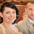 Married couple at wedding day — Stock Photo