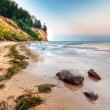 Cliff of Orlowo at Baltic sea — Stock Photo #12254914