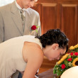 Married couple signing marriage form — Stock Photo #12254980