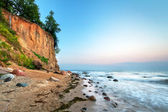 Cliff of Orlowo at Baltic sea — Stock Photo