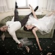 Wedding hangover — Stock Photo