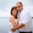 Portrait of married couple at the sea — Stock Photo #12588065