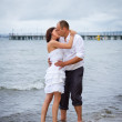 Portrait of married couple at the sea — Stock Photo