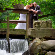 Portrait of married couple in the park — Foto Stock