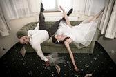 Wedding hangover — Stock Photo