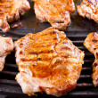 Stock Photo: Steak meat grilled on barbecue