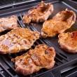 Steak meat grilled on barbecue — Stock Photo