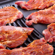 Steak meat on barbecue — Stock Photo #12594024