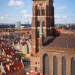 St. Mary Cathedral in old town of Gdansk — Zdjęcie stockowe