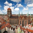 St. Mary's Cathedral in old town of Gdansk — Stockfoto