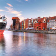 Old town of Gdansk at Motlawa river — Stock Photo #12596346