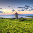 Doonagore castle at sunset — Stock Photo