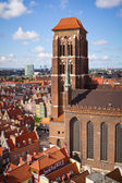 St. Mary Cathedral in old town of Gdansk — Stock Photo