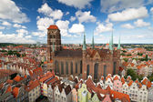 St. Mary's Cathedral in old town of Gdansk — Stock Photo