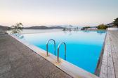 Blue swimming pool at Mirabello Bay — Stock Photo