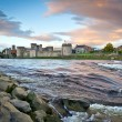 Stock Photo: King John Castle at Shannon river in Limerick