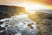 Sunset at Irish cliff scenery — Stock Photo