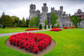 Ashford castle and gardens in Co. Mayo — Foto Stock