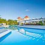 Morning at tropical swimming pool — Stock Photo #13547647