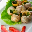 Stock Photo: French snails in garlic butter
