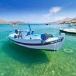 Fishing boats at the coast of Crete — Stock Photo #13549993